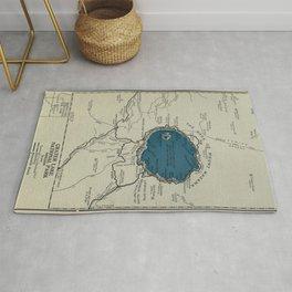 Vintage Crater Lake National Park Map (1919) Rug