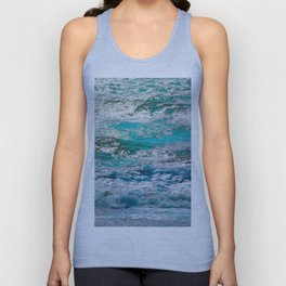 blue ocean wave texture abstract background Unisex Tank Top