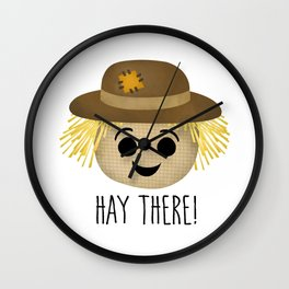 Hay There! Wall Clock