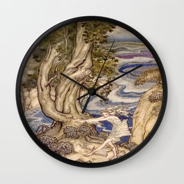 """Trying New Land Legs"" by Arthur Rackham (1906) Wall Clock"