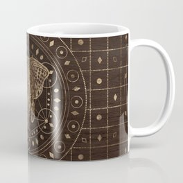 Elephant on Sacred Geometry Ornament Coffee Mug