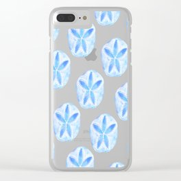 Mermaid Currency - Blue Sand Dollar Clear iPhone Case