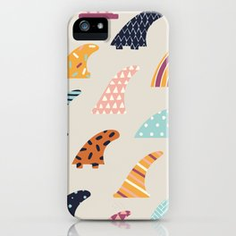 Single fin iPhone Case