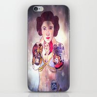 princess leia iPhone & iPod Skins featuring Leia by Artistic