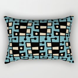 Mid Century Modern Abstract 212 Turquoise Rectangular Pillow