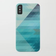 Lake and boat iPhone X Slim Case
