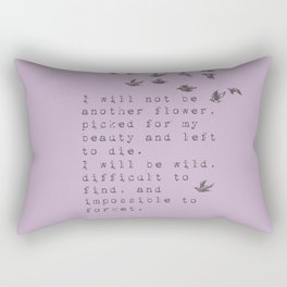 I will be wild - Van Vuren Collection Rectangular Pillow
