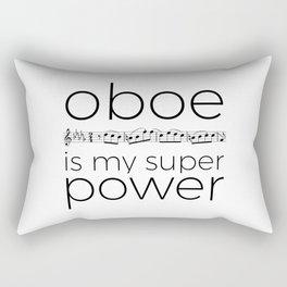 Oboe is my super power (white) Rectangular Pillow