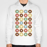 donuts Hoodies featuring Donuts!! by Ron Trickett