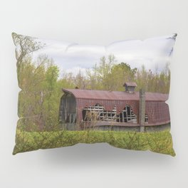 Red Roof Barn Pillow Sham