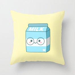 Kawaii Milk Throw Pillow