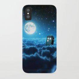 Tardis Cloud And Moon iPhone Case
