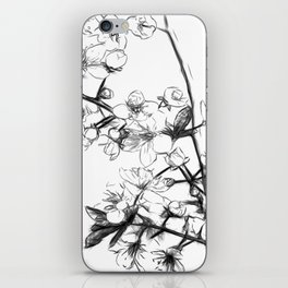 Cherry Blossoms Minimal Drawing iPhone Skin