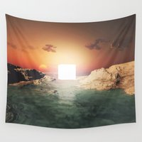 sci fi Wall Tapestries featuring Sci Fi Land by Maioriz Home