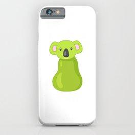 Koala Pear Gift, Koala Bear Lovers Gift, Australian Animal Lovers, Animal Pun iPhone Case