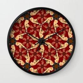 Eloise in Bondage pattern Wall Clock