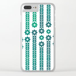 Forrest Retro Flowers Clear iPhone Case