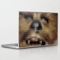 chewbacca Laptop & iPad Skins featuring Pixel Chewbacca by Tee Brain Creative
