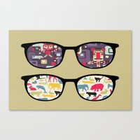 old school Canvas Prints featuring Old School  by Lyre Aloise