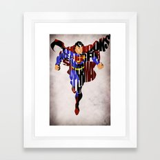 Super Hero Framed Art Print