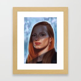 Jessica Chastain Framed Art Print