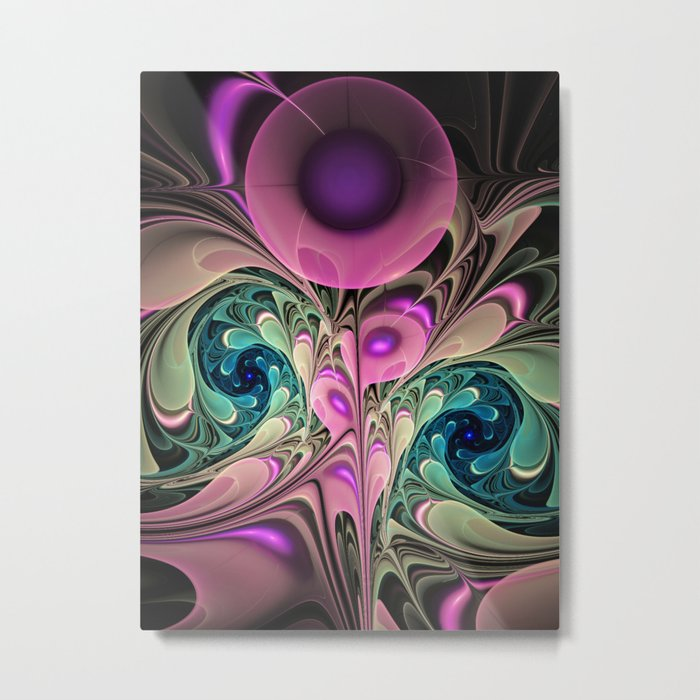 Evening Splendour, fractal abstract Metal Print