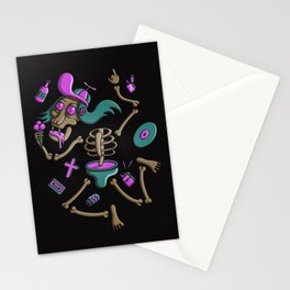Old school skeleton Stationery Cards