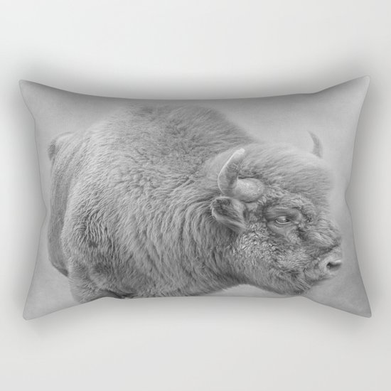 Bison Rectangular Pillow