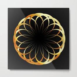 A decorative Celtic fractal flower like a mandala Metal Print