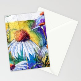 Cone Flowers by Maureen Donovan Stationery Cards