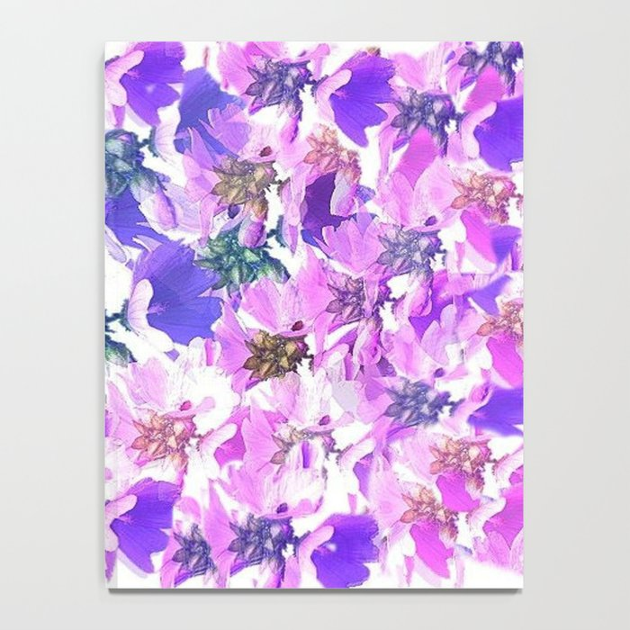 Lavender and Pink Floral Abstract Notebook