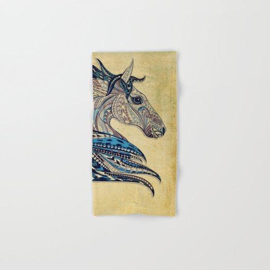 Grunge Ethnic Horse Hand & Bath Towel