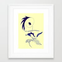 punk Framed Art Prints featuring punk by Marie Elke Gebhardt