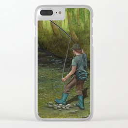 Fisherman's Paradise Clear iPhone Case