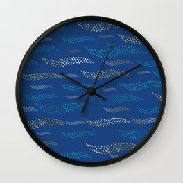Waves / Tiger (stylized pattern) 13 Wall Clock
