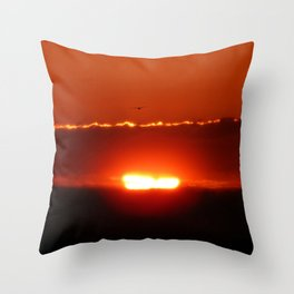 Flying Above the Sun Throw Pillow