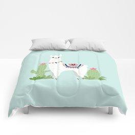 Cute Desert Alpaca Comforters