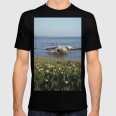 Shell Beach California Black LARGE Mens Fitted Tee