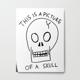 A Picture of a Skull Metal Print
