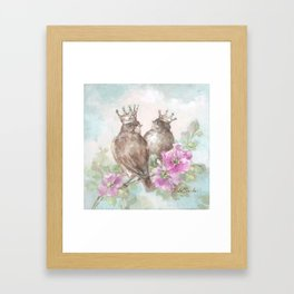French Crown Songbirds II Framed Art Print