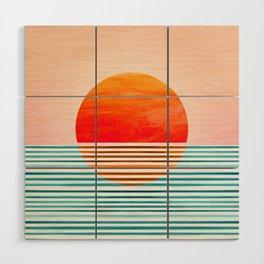 Minimalist Sunset III / Abstract Landscape Wood Wall Art