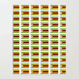 Flag of zimbabwe -Zimbabwe,Zimbabwean,Zimbo,harare,Bulawayo Poster