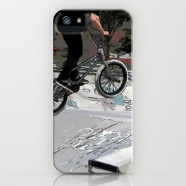 """Getting Air"" - BMX Rider iPhone Case"