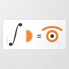 orange integral Art Print