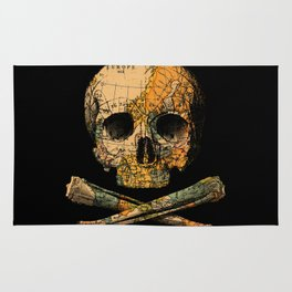 Treasure Map Skull Wanderlust Europe Rug