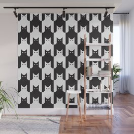Cats Dog Tooth Pattern Wall Mural