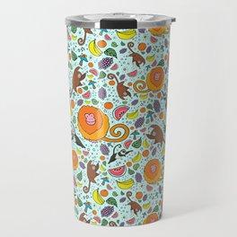 Cute Rainforest Pattern Travel Mug