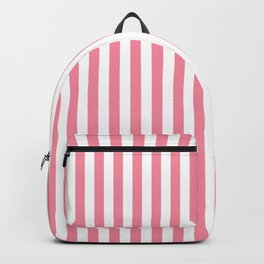 Candy Pink and White Stripes Backpack