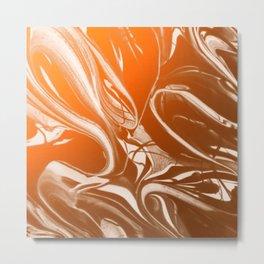 Copper Swirl - Copper, Bronze, gold and white metallic effect swirl pattern Metal Print