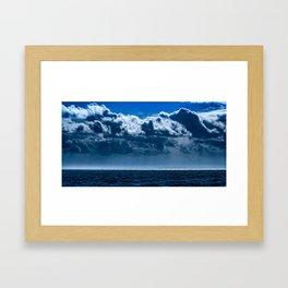 Double Cloud Sky Framed Art Print
